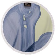 The Thinker With Memory 1,5 Tb Round Beach Towel