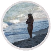 The Thinking Women Round Beach Towel