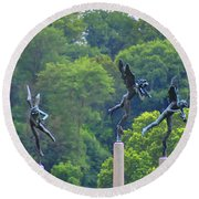 The Three Angels Round Beach Towel by Bill Cannon