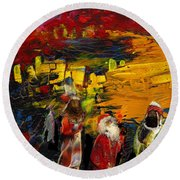 The Three Kings Round Beach Towel