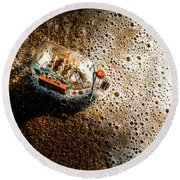 The Tide And Its Takers Round Beach Towel