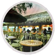 The Tiki Bar Round Beach Towel