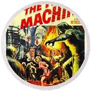 The Time Machine B Round Beach Towel
