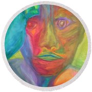 The Time Rider Round Beach Towel