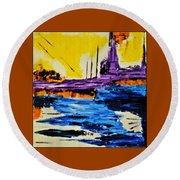 The Timeless Land - Number Five Round Beach Towel