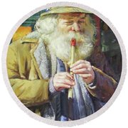 The Tin Whistle Round Beach Towel