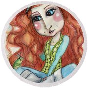 The Toad Prince Round Beach Towel