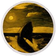The Toilers Of The Sea Round Beach Towel