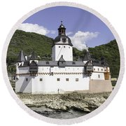 The Toll Castle Round Beach Towel