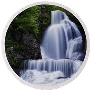 The Top Of Dingmans Falls Round Beach Towel