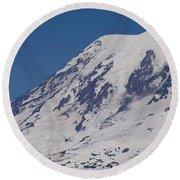 The Top Of Mount Rainier Round Beach Towel