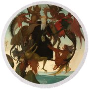 The Torment Of Saint Anthony Round Beach Towel