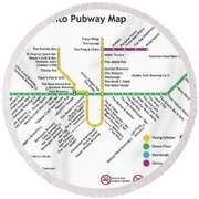 The Toronto Pubway Map Round Beach Towel