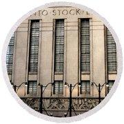 The Toronto Stock Exchange Round Beach Towel