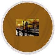 The Tower Bridge As I See Round Beach Towel