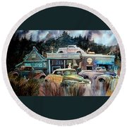 The Trading Post Round Beach Towel