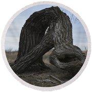 The Tree Creature Round Beach Towel