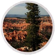 The Tree In Bryce Canyon Round Beach Towel