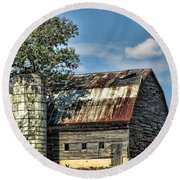 The Tree Silo Round Beach Towel