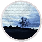 The Trees In Winter Round Beach Towel