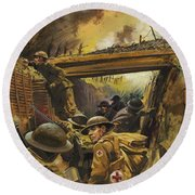 The Trenches Round Beach Towel by Andrew Howat