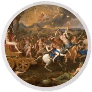 The Triumph Of Bacchus Round Beach Towel
