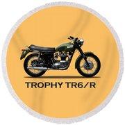 The Trophy Tr6r Round Beach Towel