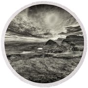The Trotternish Ridge No. 3 Round Beach Towel