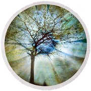 The Truth Of Trees Round Beach Towel