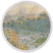 The Tuileries Round Beach Towel