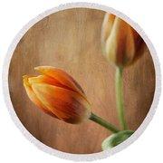 The Tulips Round Beach Towel