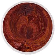 The Tunnel Red Round Beach Towel