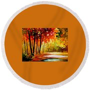 The Turn Of Fortune Round Beach Towel