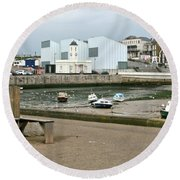 The Turner Contemporary Gallery - Margate Harbour Round Beach Towel