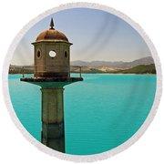 The Turquoise Lake Round Beach Towel