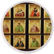 The Twelve Apostles Round Beach Towel