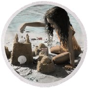 The Twelve Gifts Of Birth - Imagination 1 Round Beach Towel