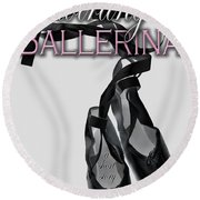 The Twirling Ballerina Cover Art Round Beach Towel