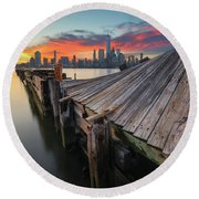 The Twisted Pier Round Beach Towel