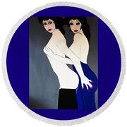 The Two Of Us Round Beach Towel