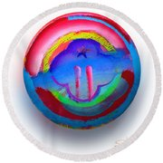 The Two Towers Round Beach Towel