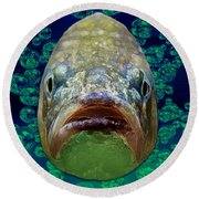 The Ugliest Fish Ever Round Beach Towel