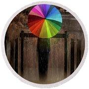 The Umbrella Round Beach Towel