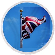 The Flag Of Great Britain Round Beach Towel