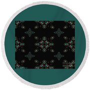 The Universe Display At Night Abstract Round Beach Towel