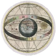 The Universe Of Ptolemy Harmonia Round Beach Towel by Science Source