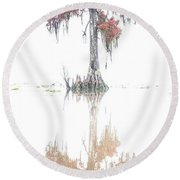 The Upside Down In Color Round Beach Towel