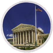 The Us Supreme Court Round Beach Towel