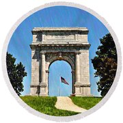 The Valley Forge Arch Round Beach Towel