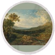 The Valley Of The Clyde Round Beach Towel